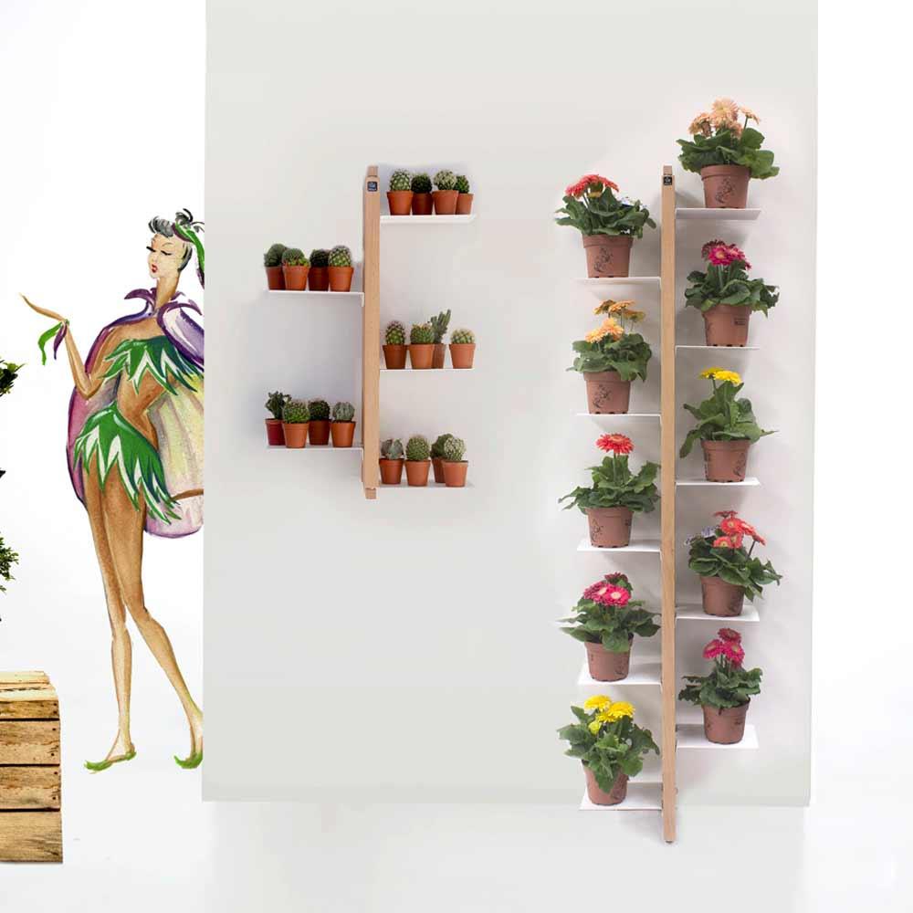 fiori da giardino giardino fiorito : Zia Flora portavasi sospeso made in Italy, in legno massello di faggio ...