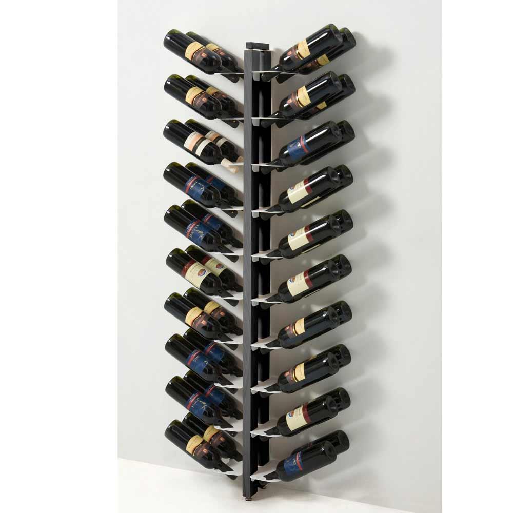 Zia gaia portabottiglie bifacciale da terra fissato a parete for Scaffali per vino ikea