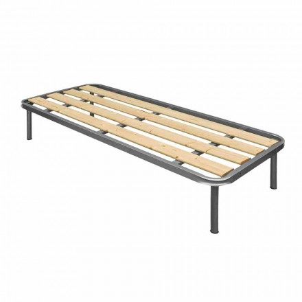 Rete singola con doghe verticali in legno Bio Comfort 2 80x190 cm