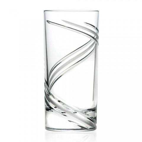 12 Bicchieri da Cocktail Tumbler Alti in Cristallo Ecologico Italiano - Ciclone