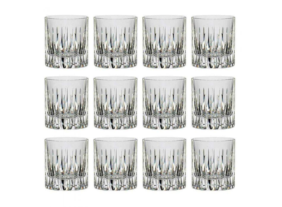 12 Bicchieri da Whisky o Acqua Tumbler Bassi in Cristallo Ecologico - Voglia