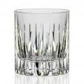 12 Bicchieri da Whisky o Acqua Tumbler Bassi in Cristallo Linea Lusso - Voglia