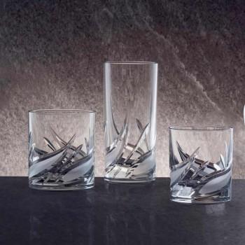 12 Bicchieri Double Old Fashioned Tumbler Basso da Whisky in Cristallo - Avvento