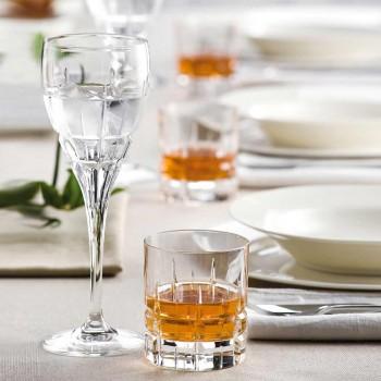 12 Bicchieri Double Old Fashioned Tumbler Basso da Whisky in Cristallo - Fiucco