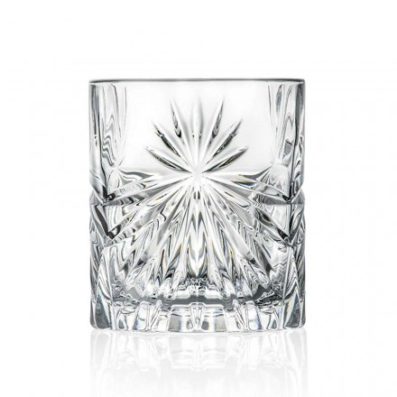 12 Bicchieri Double Old Fashioned Tumbler in Eco Cristallo di Design - Daniele