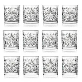 12 Bicchieri Double Old Fashioned Tumbler in Eco Cristallo di Lusso - Destino