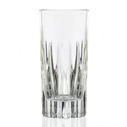 12 Bicchieri per Long Drink Tumbler Alti in Cristallo Eco, Linea Lusso - Voglia