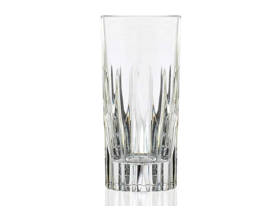 12 Bicchieri per Long Drink Tumbler Alti in Cristallo Ecologico - Voglia