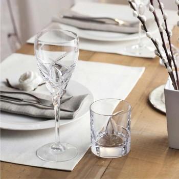 12 Bicchieri Tumbler Bassi in Eco Cristallo Design di Lusso - Montecristo