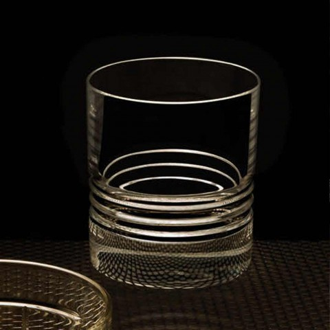 12 Bicchieri Tumbler Double Old Fashioned in Cristallo da Whisky - Aritmia