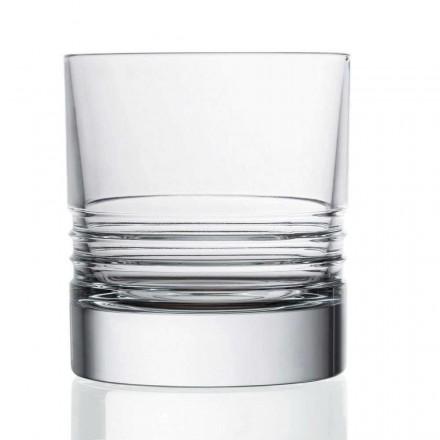 12 Bicchieri Double Old Fashioned in Cristallo da Whisky, Linea Lusso - Aritmia