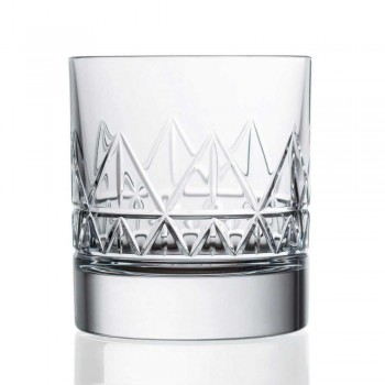 12 Bicchieri Whisky o Acqua Design Moderno di Lusso in Cristallo - Aritmia