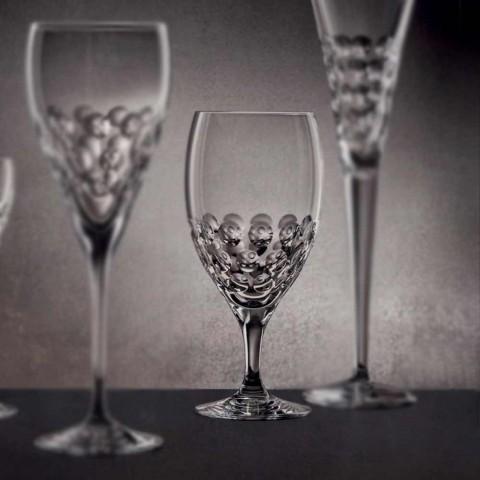 12 Calici da Birra in Cristallo Ecologico Decorato Design di Lusso - Titanioball