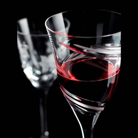 12 Calici da Vino Rosso in Cristallo Ecologico Senza Piombo di Lusso - Ciclone