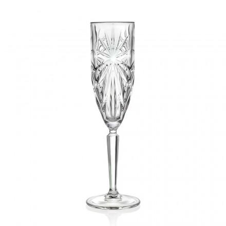 12 Calici Flute Bicchiere per Champagne o Prosecco in Eco Cristallo - Daniele