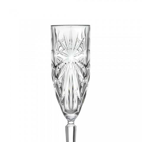 12 Calici Flute Bicchiere per Champagne o Prosecco in Cristallo Eco - Daniele