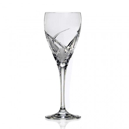 12 Calici per Degustazione Vino Design di Lusso in Eco Cristallo - Montecristo