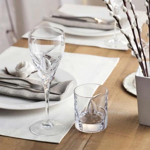 12 Calici per Vino Bianco in Cristallo Ecologico Design di Lusso - Montecristo