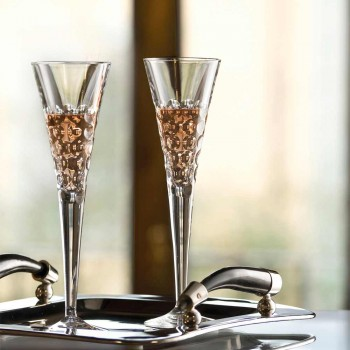 12 Calici per Vino Bicchieri Fluter per Bollicine in Cristallo - Titanioball