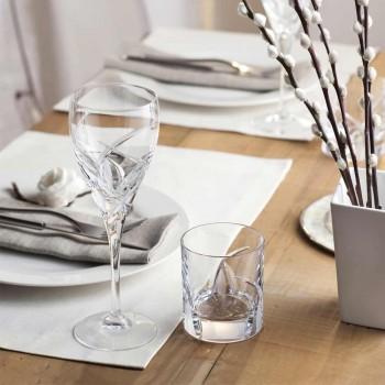 12 Calici per Vino Rosso in Cristallo Ecologico Design di Lusso - Montecristo