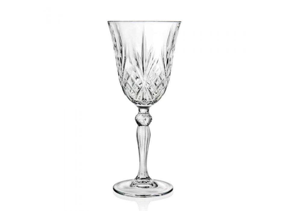 12 Calici Vino, Acqua, Cocktail in Cristallo Ecologico Stile Vintage - Cantabile