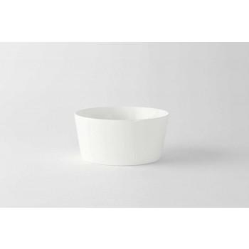 12 Coppette Gelato o per Macedonia di Design Moderno Bianco in Porcellana - Egle