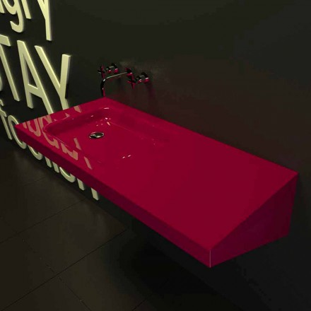 Lavabo sospeso design moderno Saddled made in Italy