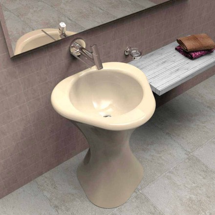 Lavabo a colonna moderno di design Twister made in Italy