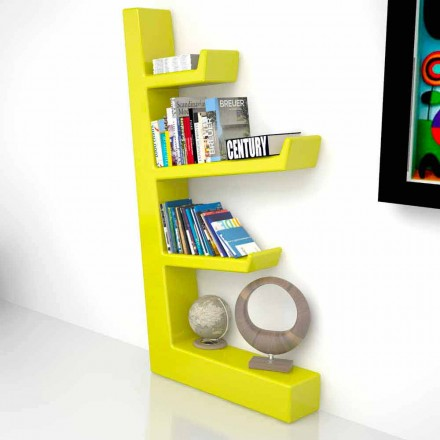 Libreria design moderno in Solid Surface Austen, made in Italy