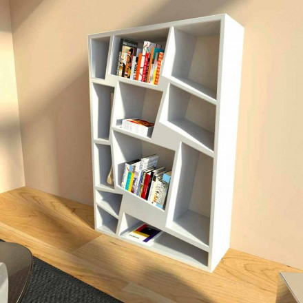 Libreria moderna di design verde, rossa o bianca Christie