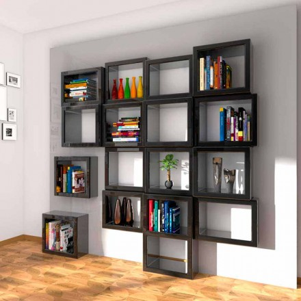 Libreria da parete design Fra011 Made in Italy