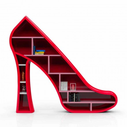 Libreria design moderno in Solid Surface Lady fatta in Italia