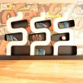 Libreria design moderno in Solid Surface Ser P made in Italy