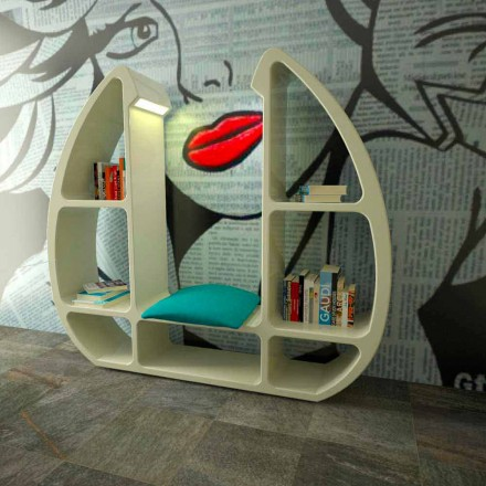 Libreria design moderno in Solid Surface Shelley fatta in Italia