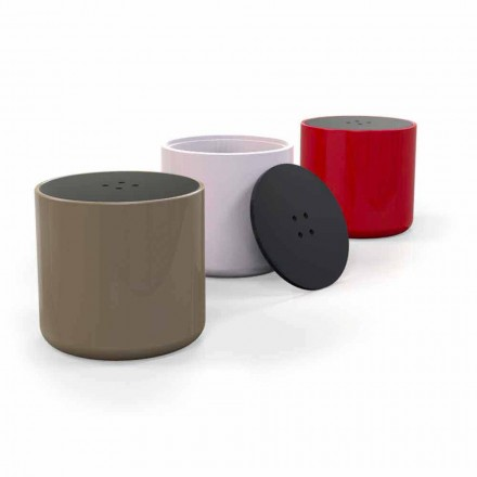 Pouf Contenitore/Tavolino Design Button Made in Italy