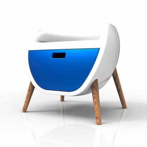 Comodino Moderno Design Gauche Made in Italy