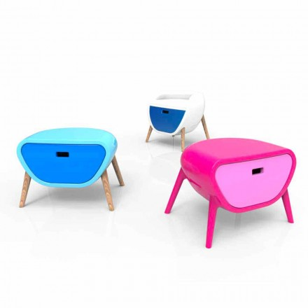 Comodino Moderno Design Little Gauche Made in Italy