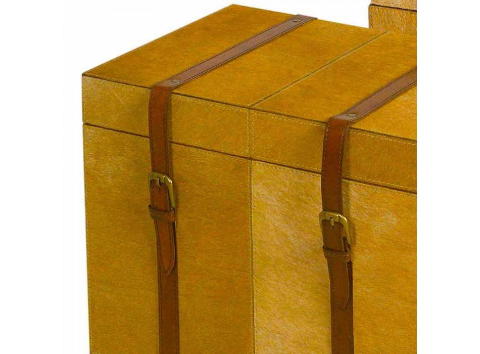 2 bauli design moderno in cavallino marrone chiaro Deii