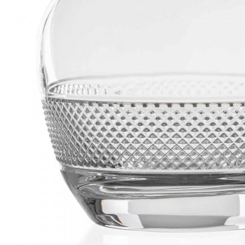2 Bottiglie da Vino con Tappo in Cristallo Ecologico Design Rotondo - Milito