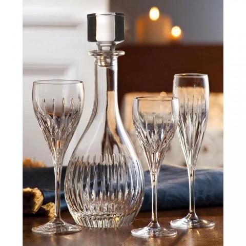 2 Bottiglie da Vino di Cristallo Ecologico Molato a Mano Lusso Italiano - Voglia