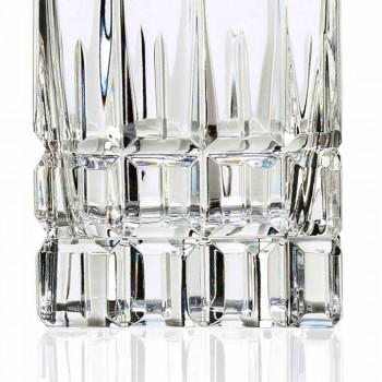 2 Bottiglie da Whisky con Tappo in Cristallo Design Squadrato con Tappo - Fiucco