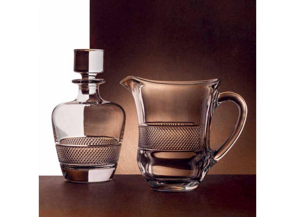 2 Bottiglie da Whisky Decorata in Cristallo Ecologico Design Elegante - Milito
