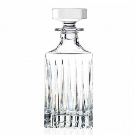 2 Bottiglie da Whisky di Cristallo con Molatura Manuale, Linea Lusso - Voglia