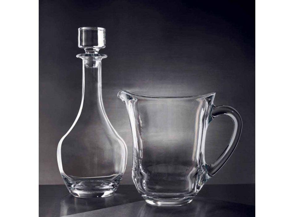 2 Bottiglie per Vini in Cristallo Ecologico Design Minimale Italiano - Lisciato