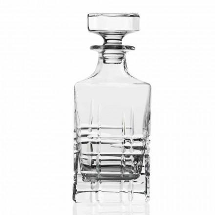 2 Bottiglie per Whisky con Tappo di Design in Cristallo Linea Lusso - Aritmia
