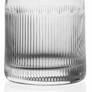 2 Bottiglie per Whisky con Tappo in Cristallo Ecologico Design Vintage - Tattile