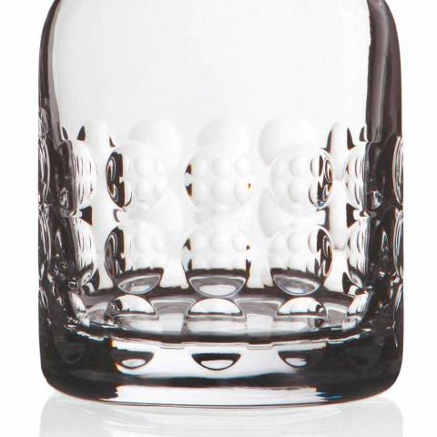 2 Bottiglie per Whisky in Cristallo Ecologico Decorato con Tappo - Titanioball