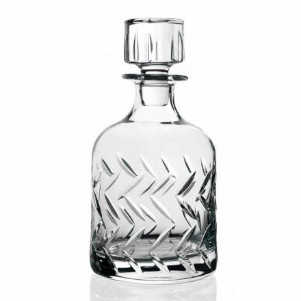 2 Bottiglie Whisky in Cristallo Ecologico, Decori Vintage Linea Lusso - Aritmia