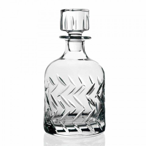 2 Bottiglie Whisky in Cristallo Ecologico con Tappo Decori Vintage - Aritmia