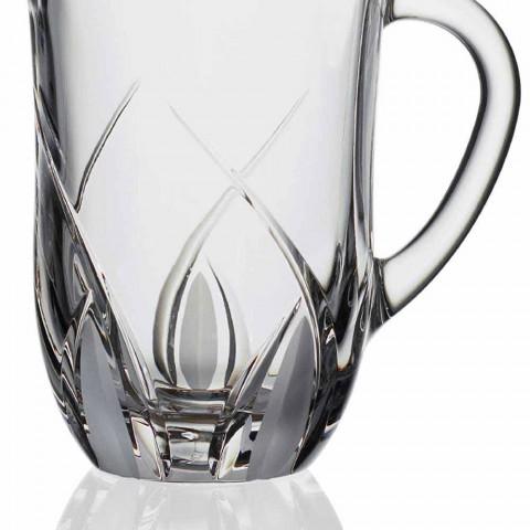 2 Brocche Acqua Cristallo Ecologico Design Decorato a Mano Lusso - Montecristo